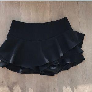 Zara Skirts - Zara Black Ruffles Skort